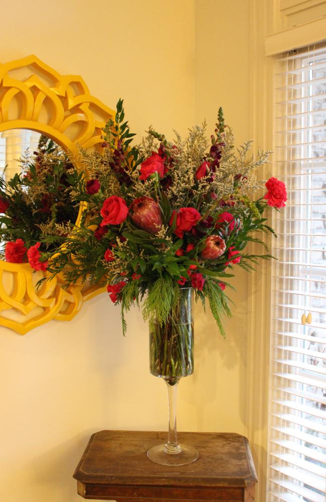 Bridal show Bauer tall arrangement (1 of 1)