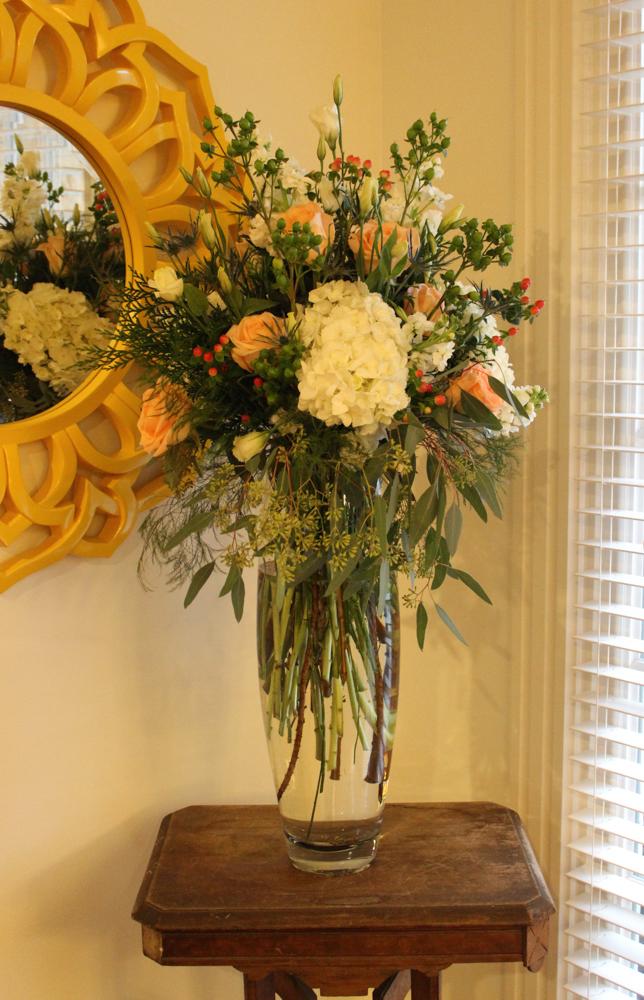 Bridal show Maria Scott tall arrangement (1 of 1)