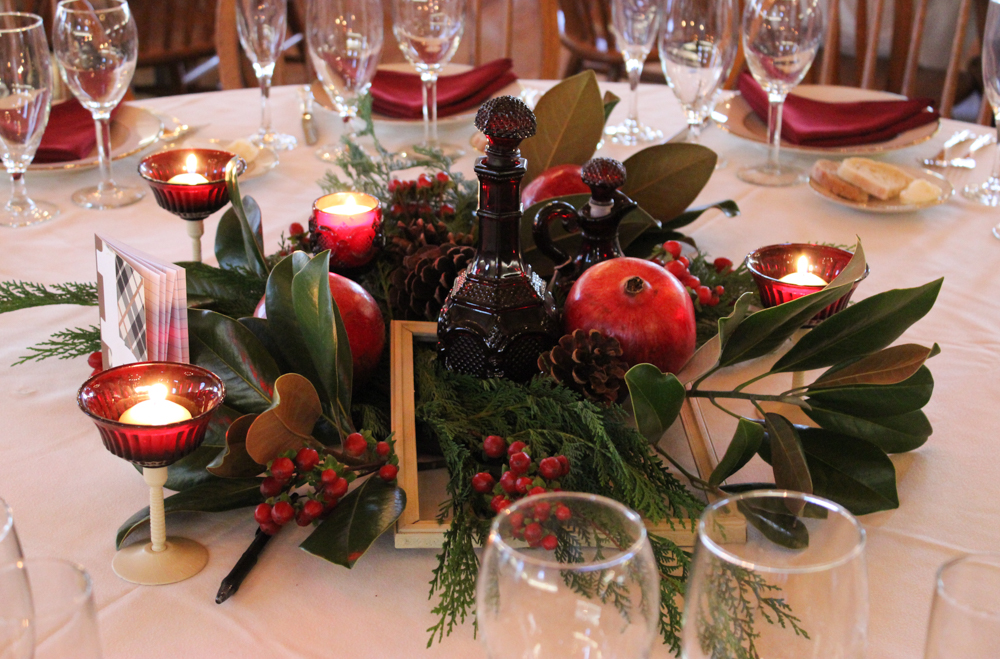 winter wedding, holiday centerpiece, evansville florist, evansville indiana
