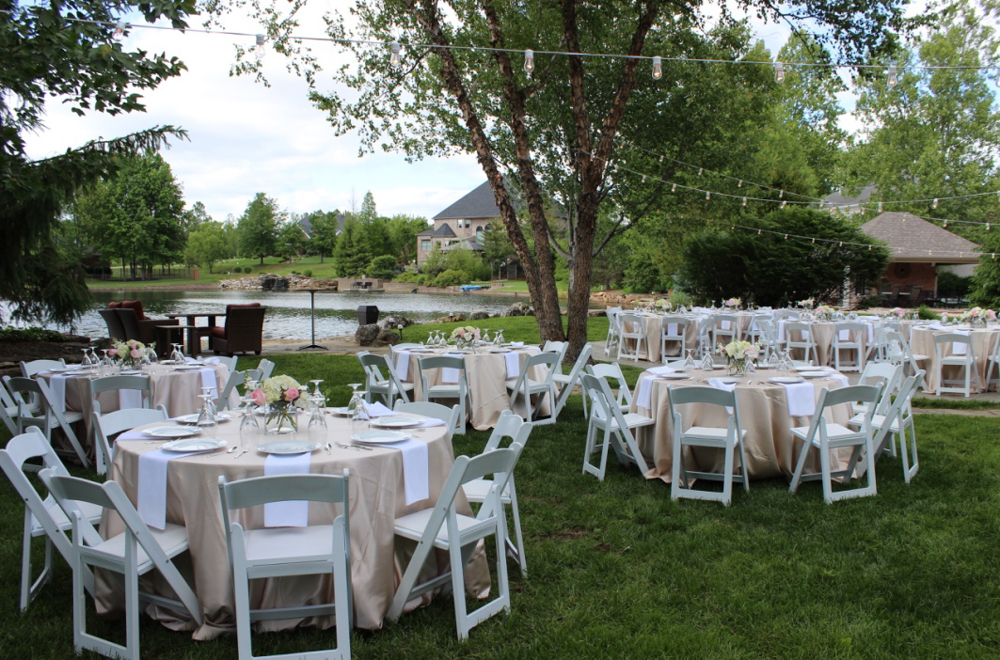 Elegant Backyard Wedding Reception