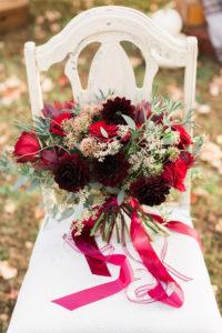 fall bouquet, burgundy, blush