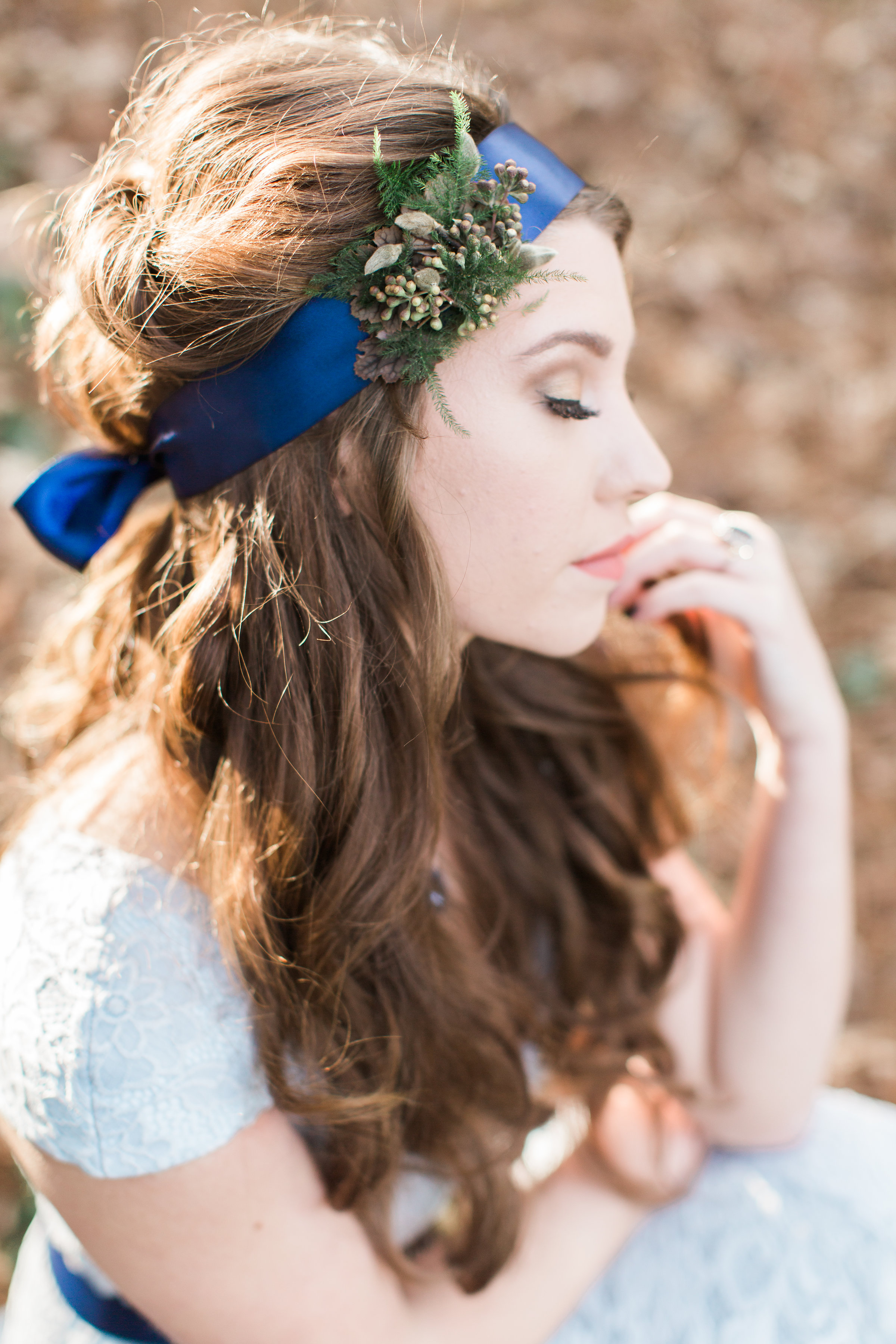 floral belt, floral headband, floral jewelry