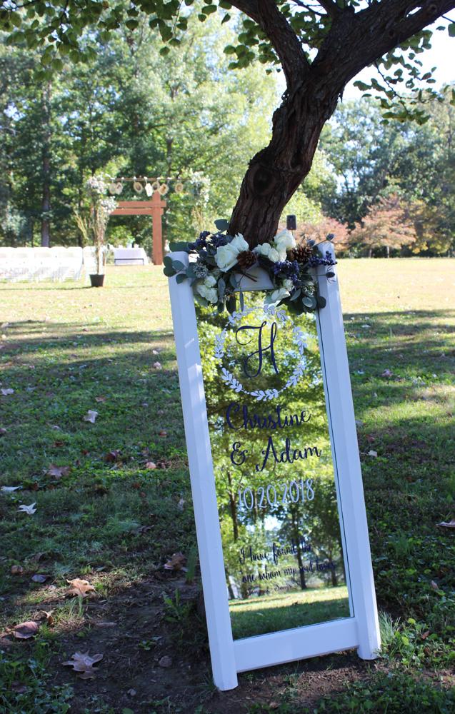 wedding sign, bauerhaus, evansville wedding