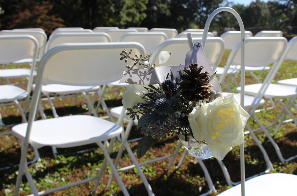 wedding flowers, wedding aisle flowers, shepherds hooks