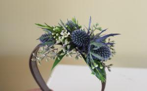 floral wearables, headband, flower girl, flowers for hair