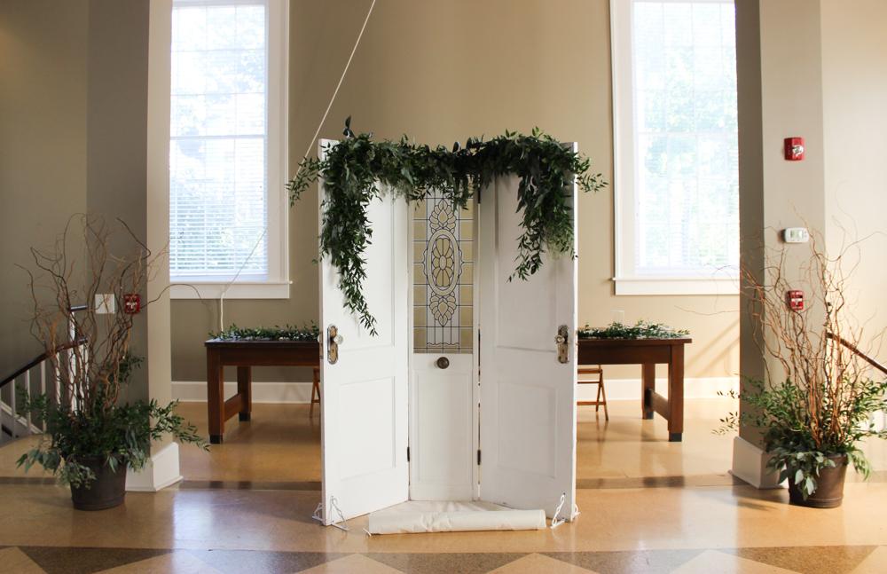 vintage door, antique door backdrop, wedding backdrop