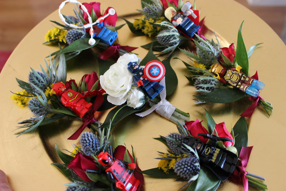 evansville wedding, wedding flowers, evansville florist, evansville indiana, superhero wedding