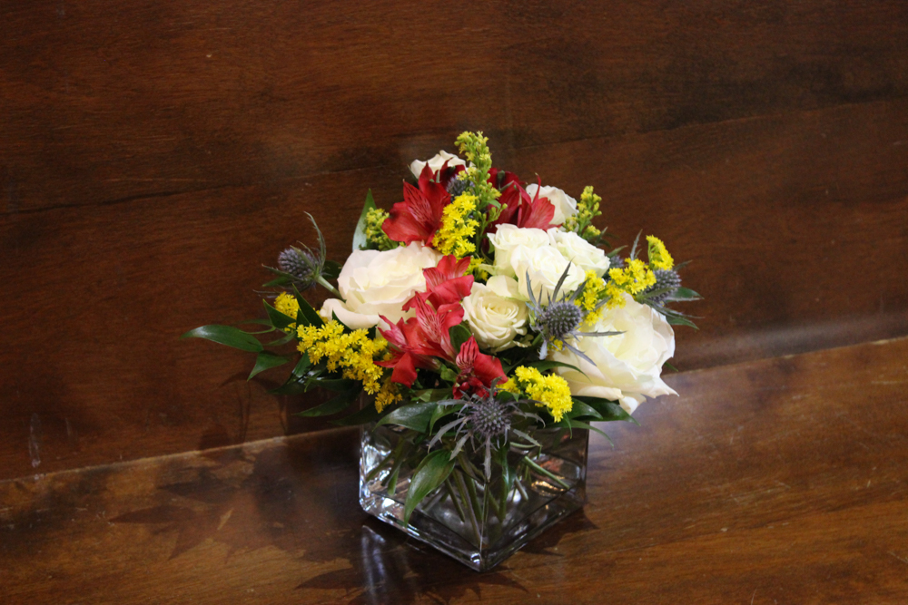 colorful flowers, red flowers, white flowers, blue flowers, yellow flowers, evansville wedding, Neu Chapel