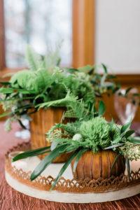 green centerpiece, woodland wedding, greenery wedding, evansville wedding, evansville florist, evansville indiana florist, evansville indiana wedding