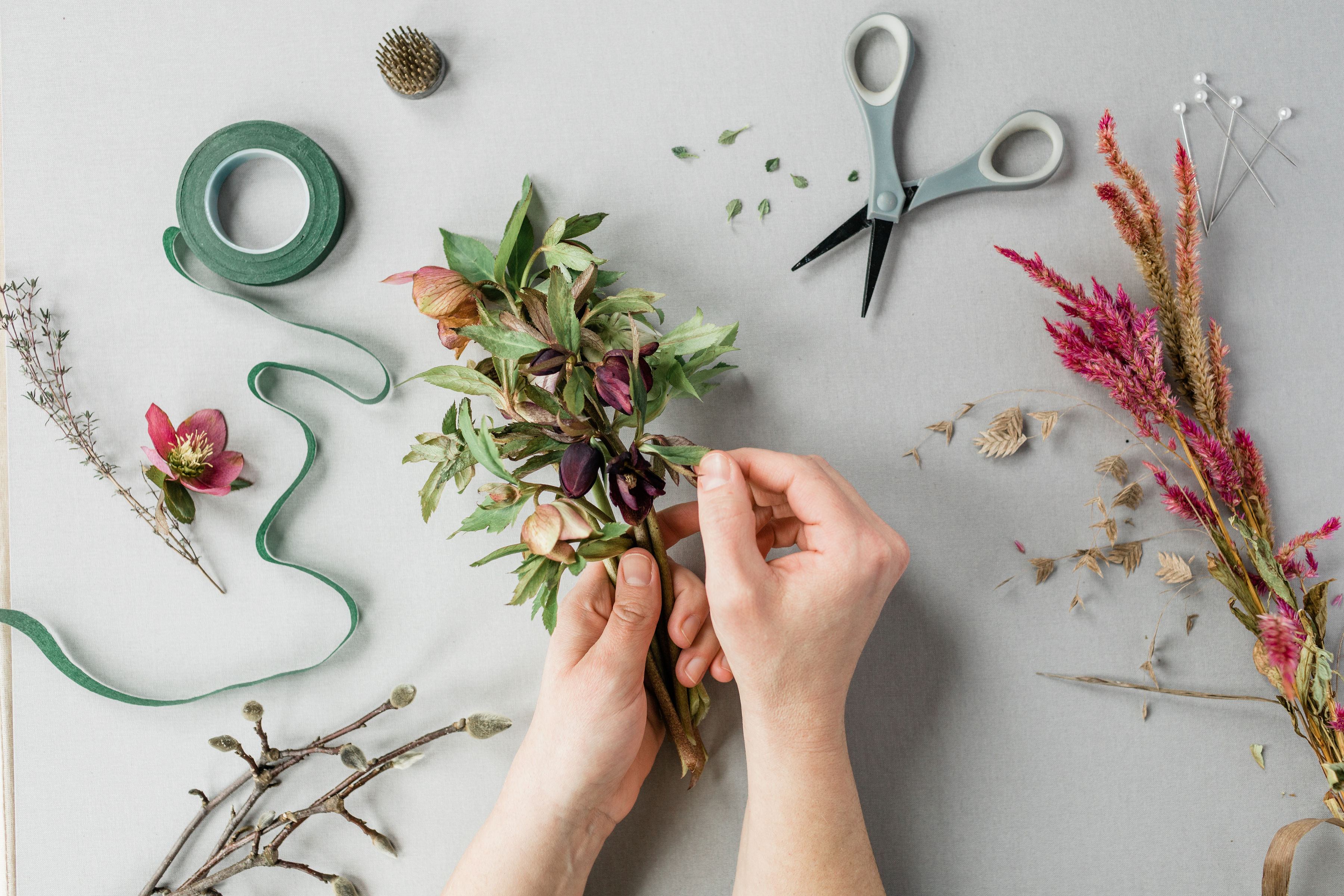 evansville florist, flower design classes, flower bar, evansville indiana