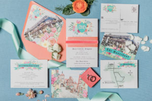 wedding stationary suite by 5 pink peonies at the bauerhaus