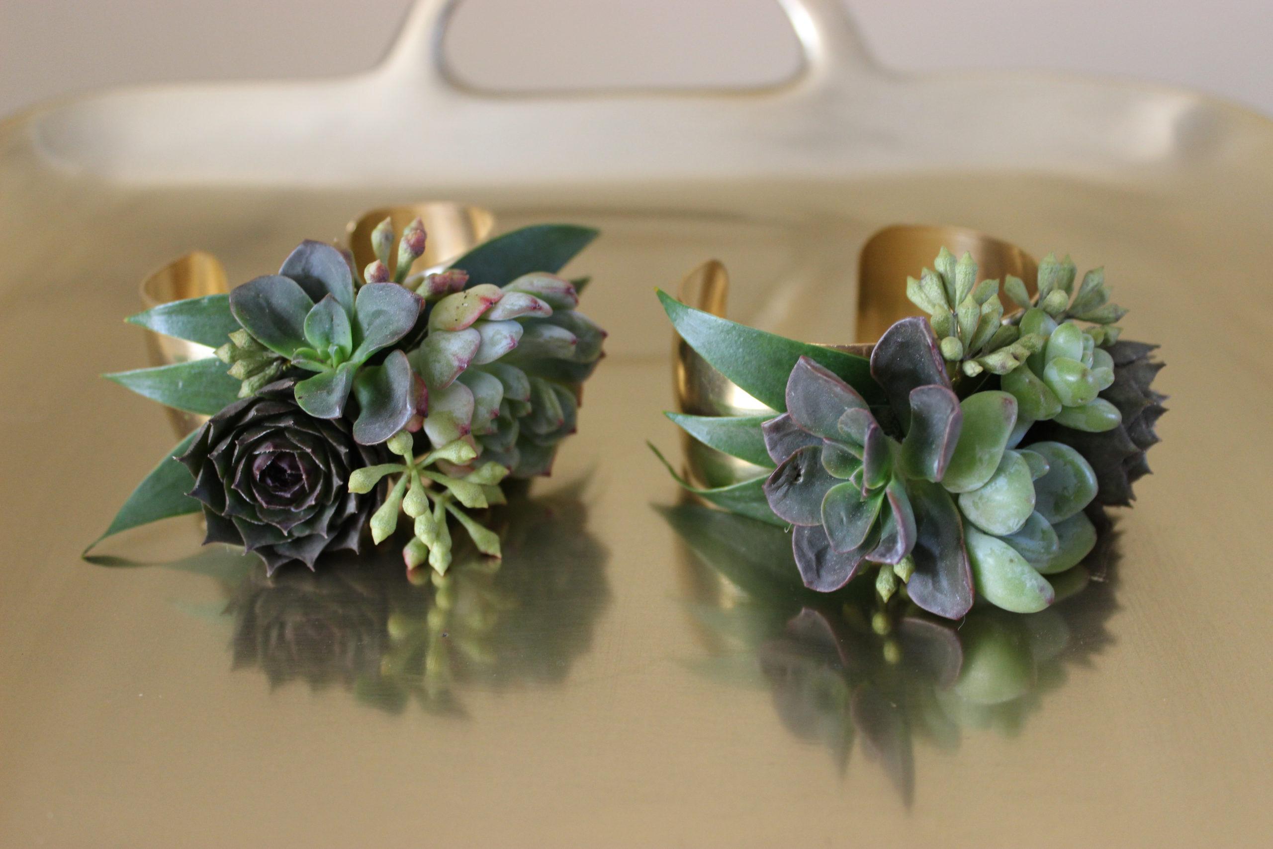 succulent wrist corsages