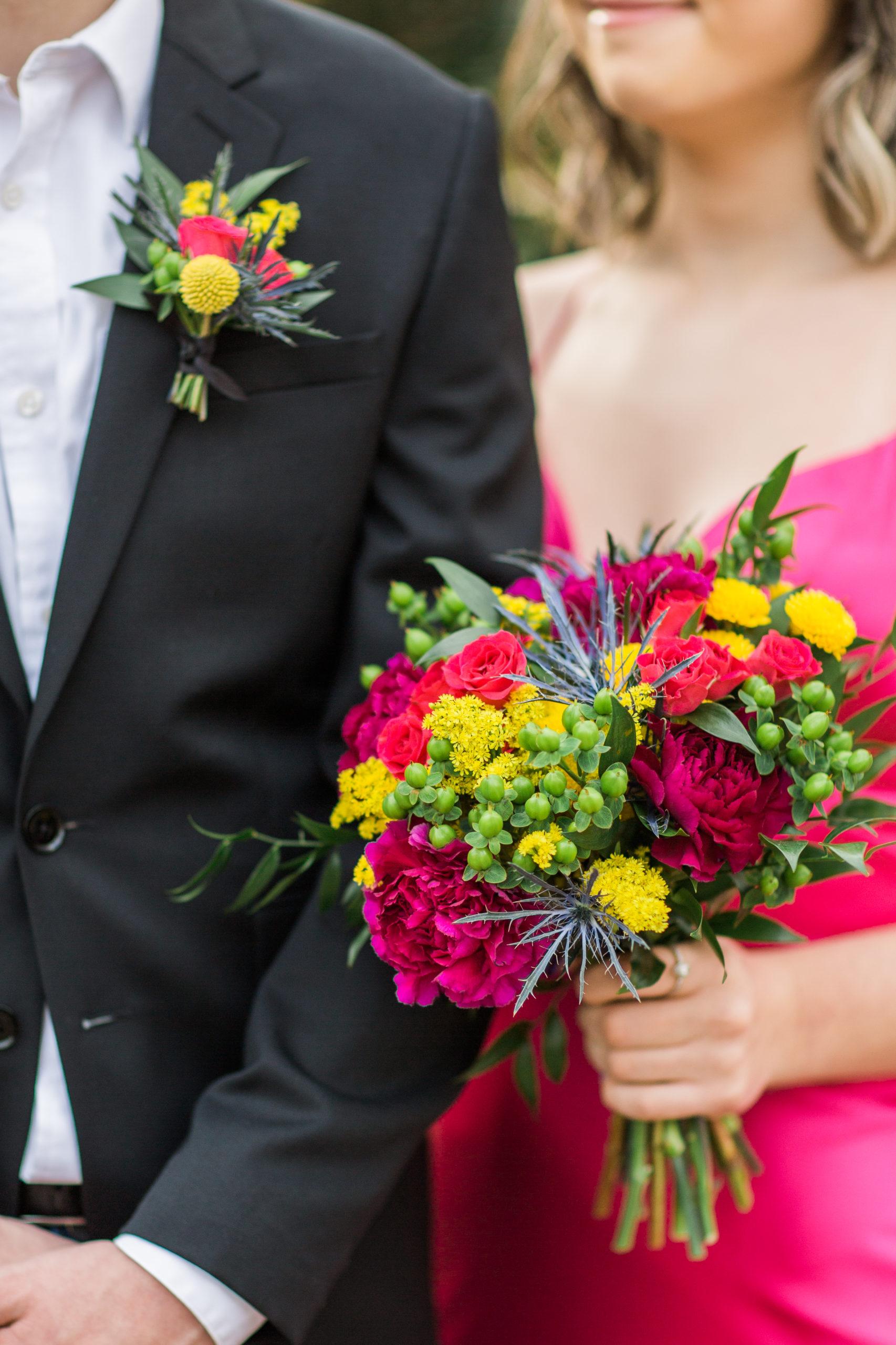 bold palette prom flower inspiration