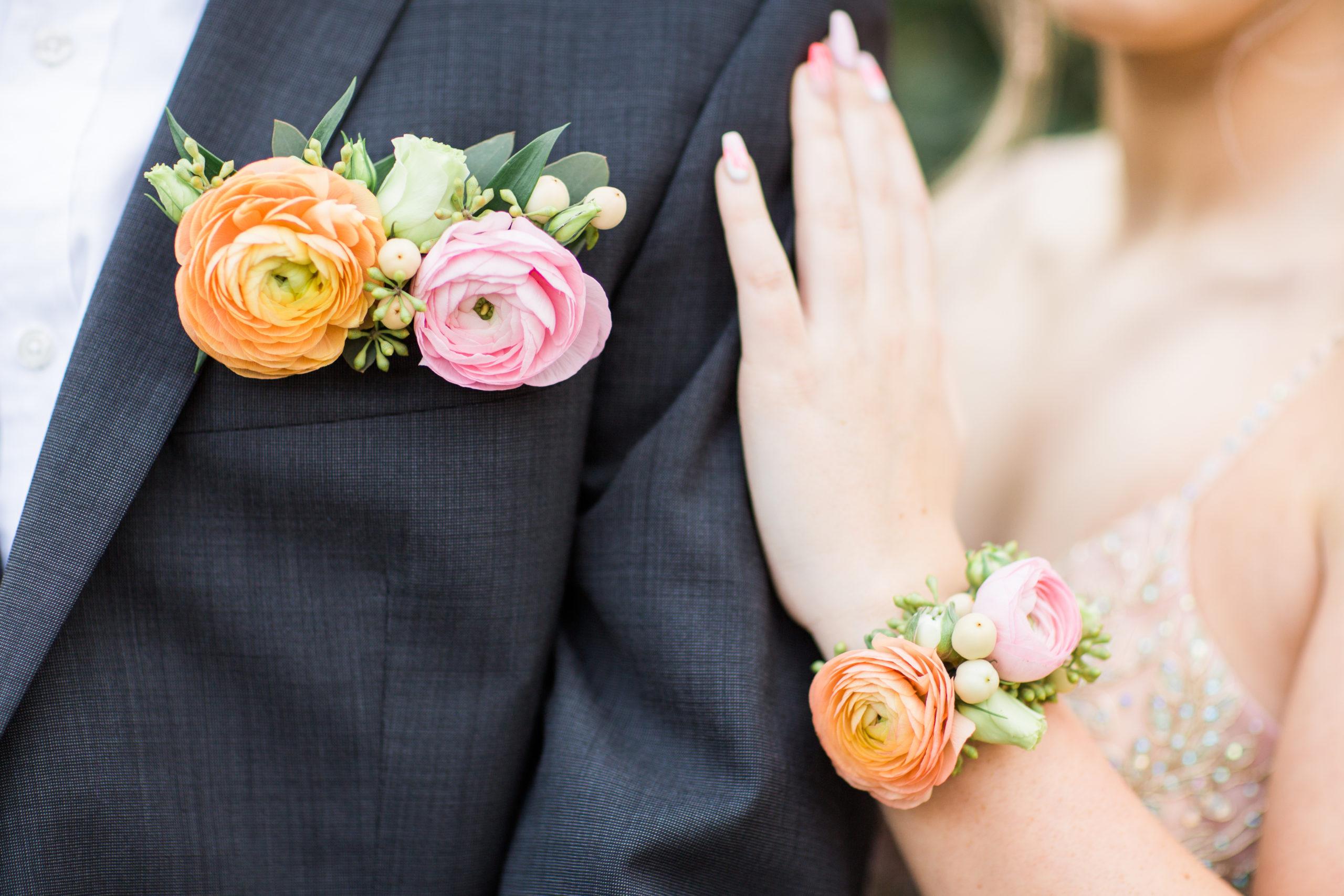 pastel palette prom flowers