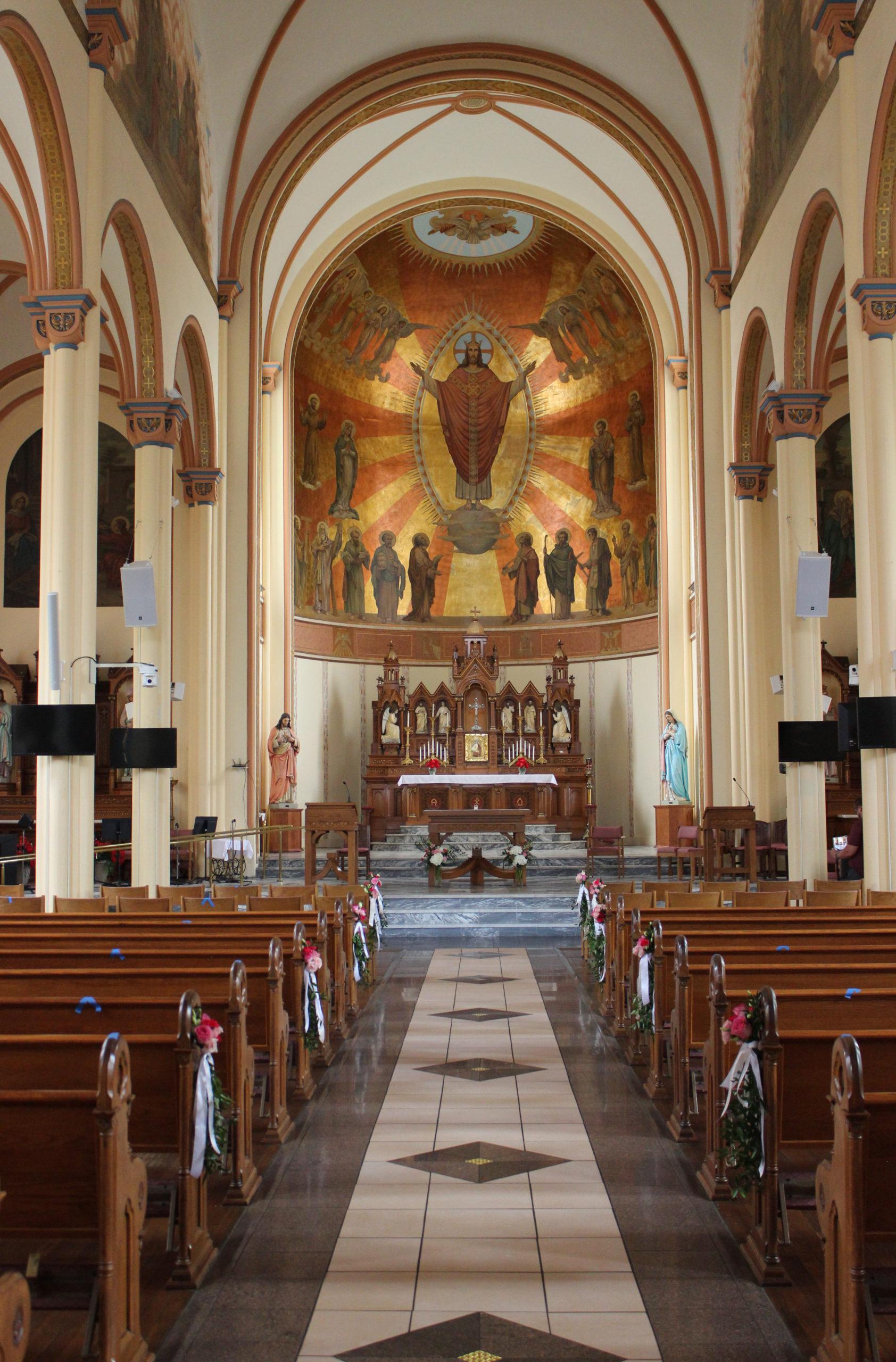 Wedding at St. Anthony Catholic Parish in Evansville Indiana