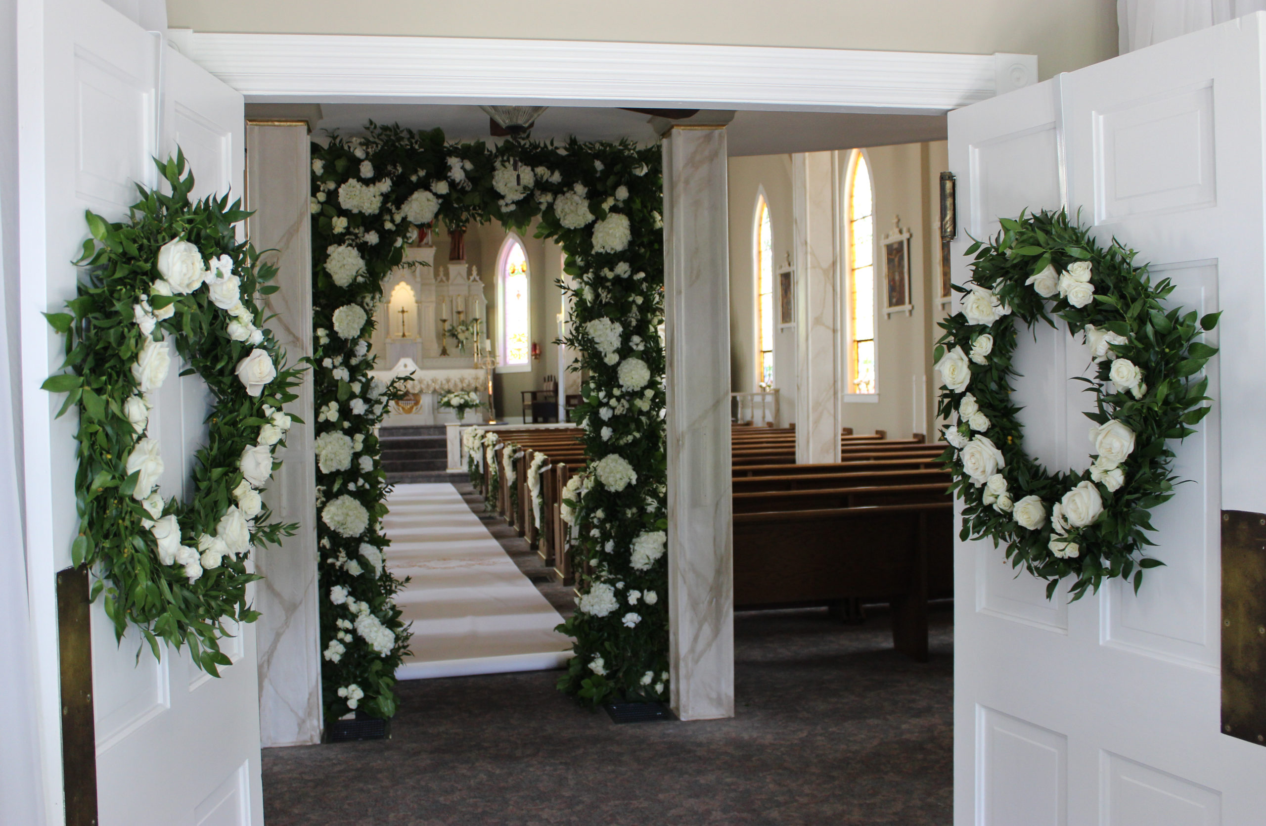 Entry to a wedding at St. Bernard in Gibson County Indiana
