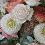 blush, pink, and peach florals by evansville florist emerald design