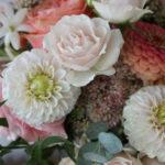 blush, pink, and peach florals by evansville florist emerald design