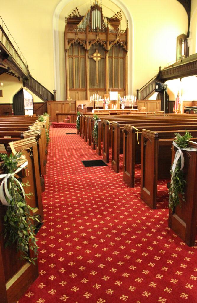 Trinity United Methodist Church in downtown Evansville