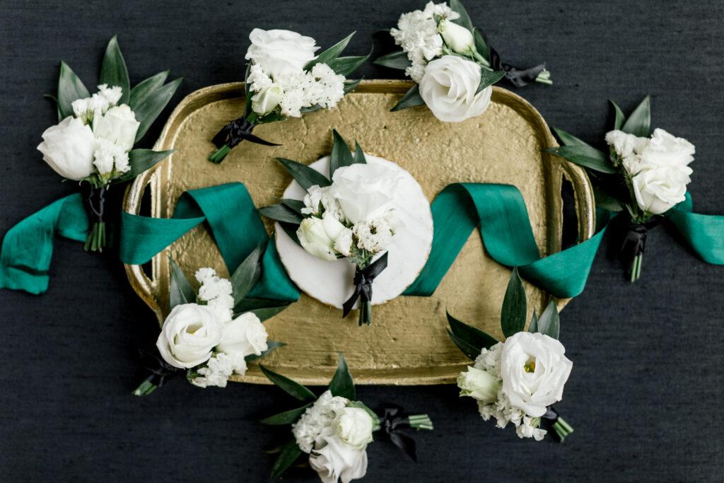 boutonnieres by evansville florist emerald design